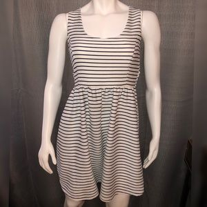 Lauren Conrad White and Navy Striped Dress